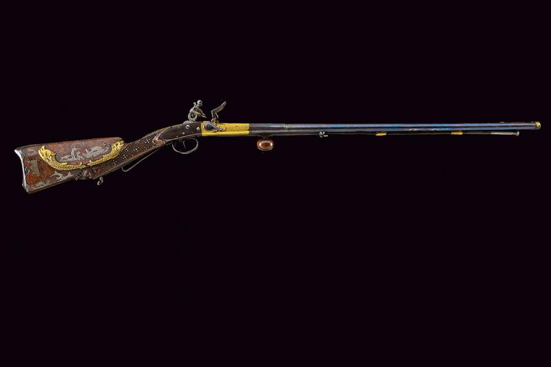 A very rare double-barrelled flintlock sporting gun by Gauvain - Image 14 of 14