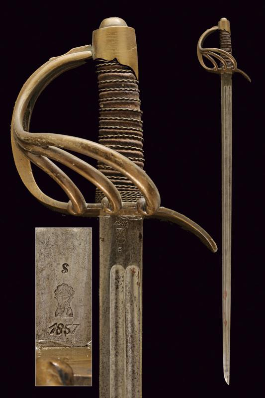 A cavalry officer's sword