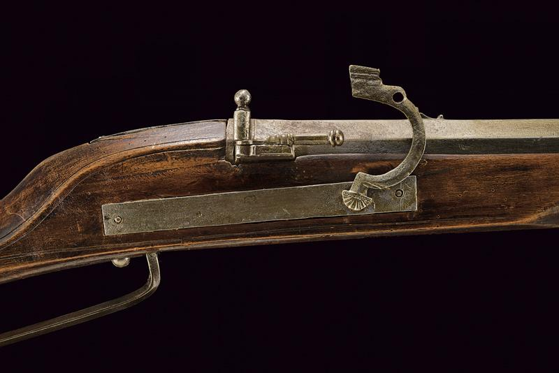 A matchlock gun with fork - Image 3 of 5