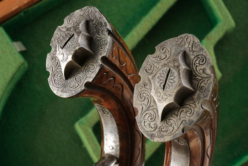 A pair of cased percussion pistols by Kuchenreuter - Image 4 of 6