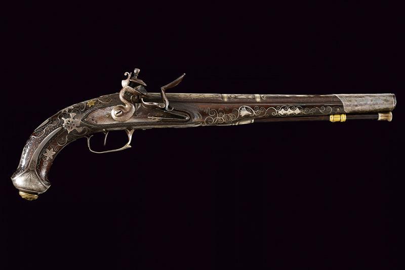 A fine flintlock pistol with silver mounts - Image 9 of 9