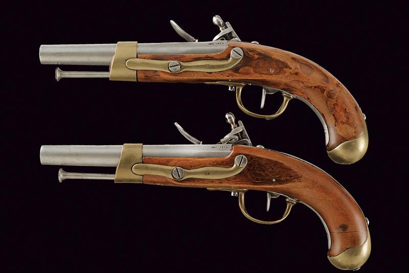 A pair of AN IX flintlock pistols - Image 7 of 7