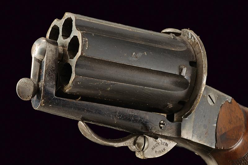 A pin fire pepperbox revolver - Image 2 of 4