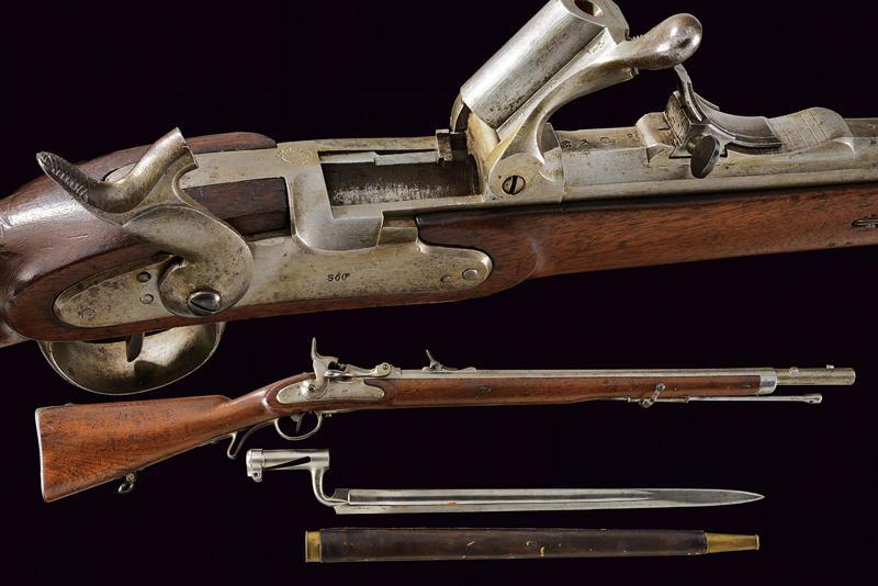 A Jagerstutzen mod. 1854/67 with bayonet
