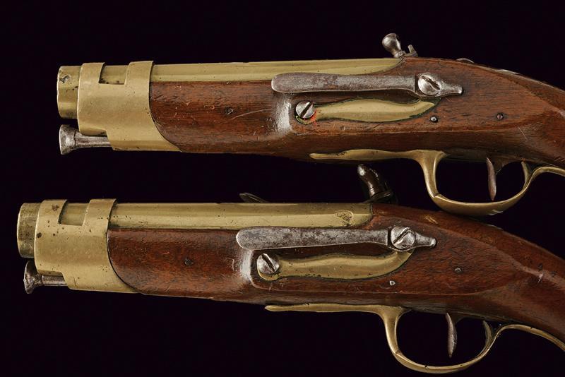 A pair of port gendarmerie pistols - Image 3 of 4