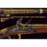 A beautiful flintlock gun by Manceaux