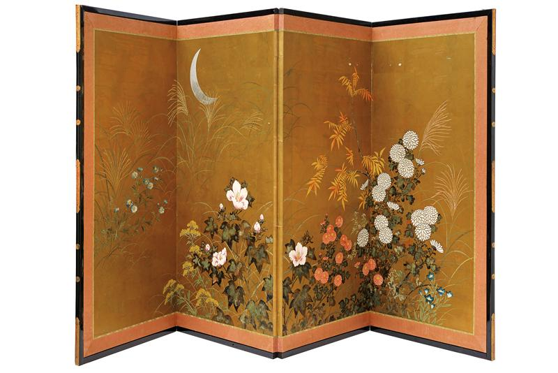 A four-panel screen - Image 4 of 4