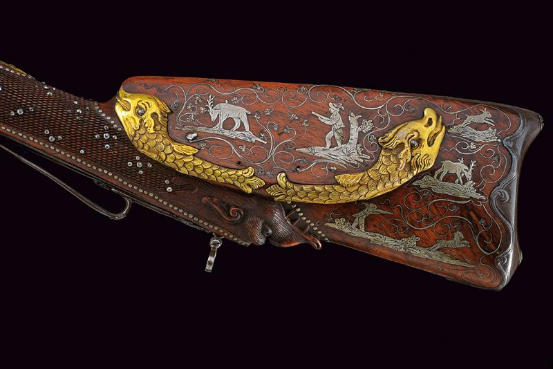 A very rare double-barrelled flintlock sporting gun by Gauvain - Image 7 of 14