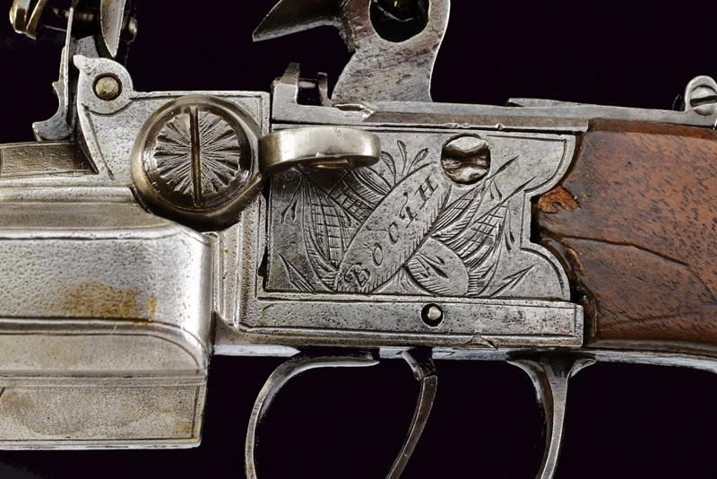 A very scarce flintlock pocket pistol by Booth - Image 3 of 6