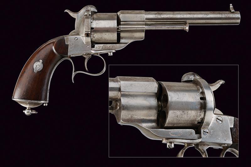 A 'Long-type' Lefaucheux pin-fire revolver