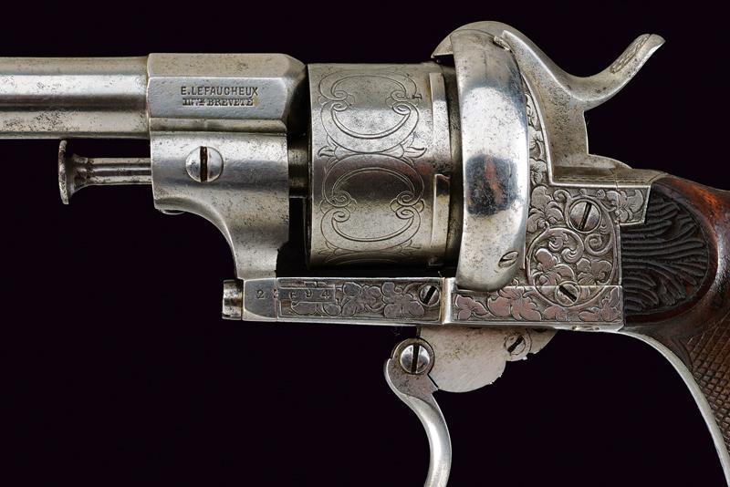 A fine Lefaucheux pin fire revolver - Image 6 of 7