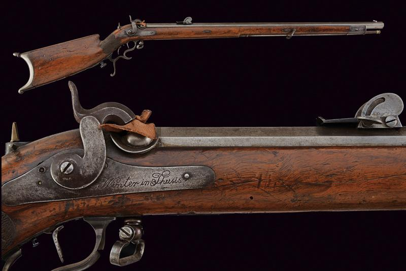 A percussion target rifle by Winter