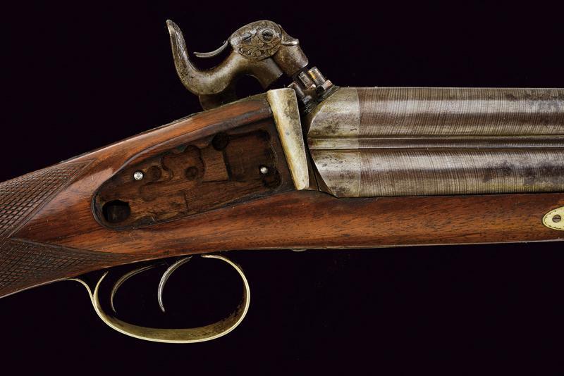 A rare cased four barrelled percussion gun by L. Menichetti - Image 10 of 19
