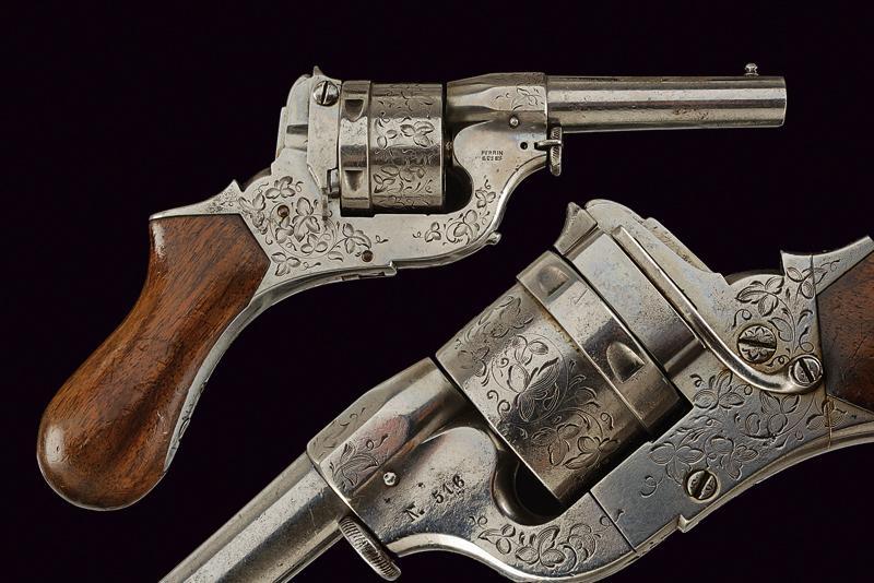 A center fire Perrin revolver