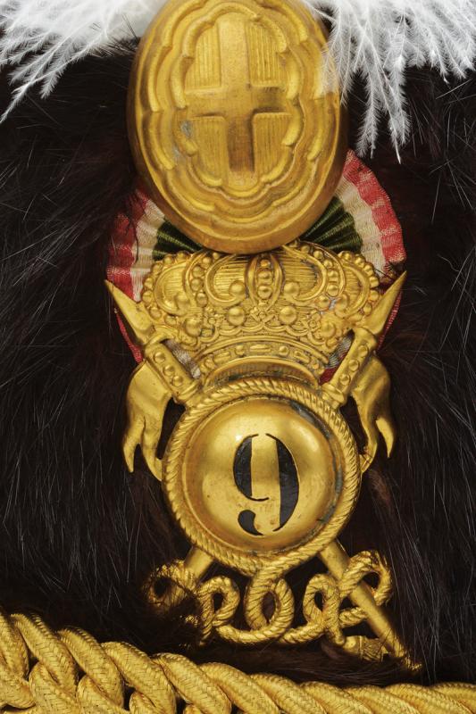 An officer's fur hat of the 'Lancieri di Firenze' regiment - Image 3 of 4