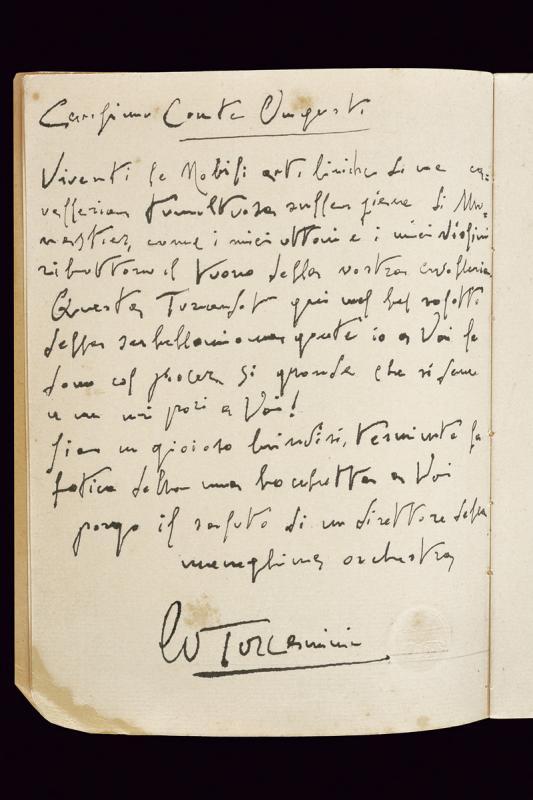 Toscanini, Arturo - Libretto of Puccini's Turandot - Image 3 of 6