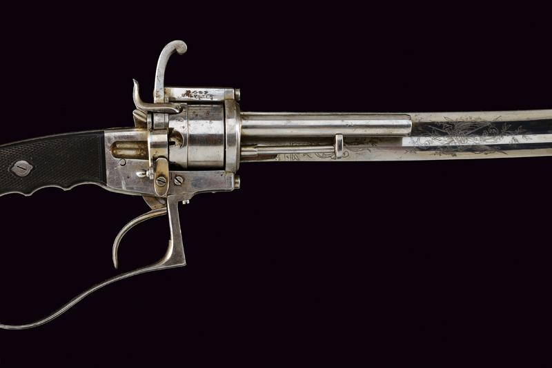 A very rare officer's sabre-revolver, 1864 patent - Image 6 of 11