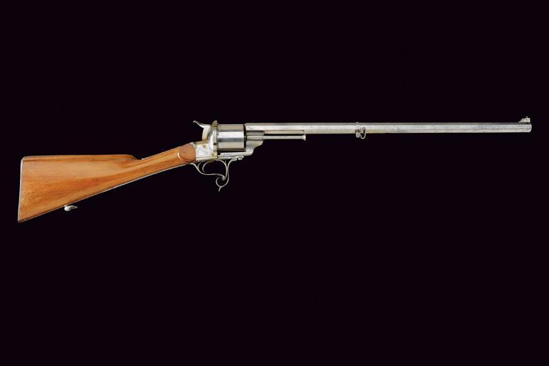 A Lefaucheux centerfire revolving rifle - Image 9 of 9