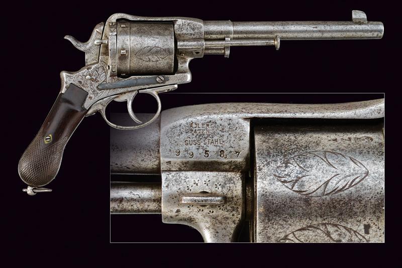 A center-fire Montenegrin type revolver