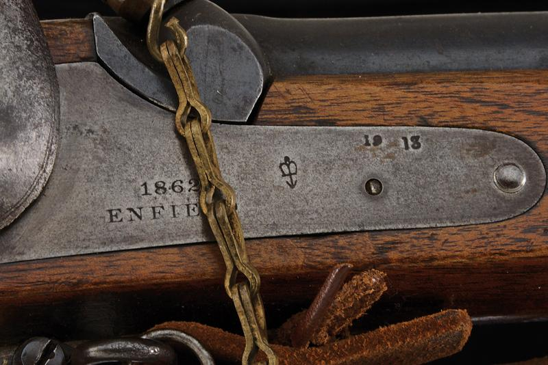 A Pattern 1853 Enfield percussion rifle with bayonet - Image 6 of 7