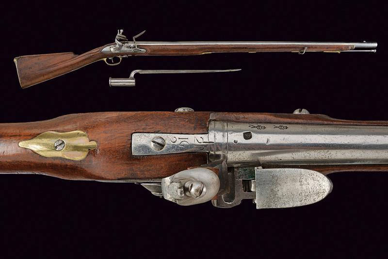 A 'BROWN BESS' Infantry flintlock gun with bayonet
