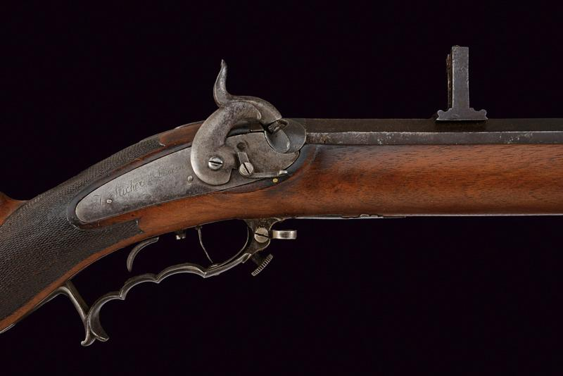 A percussion target rifle by Sticher - Image 2 of 7