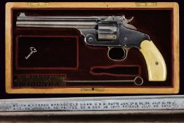 An interesting cased S&W New Model No. 3 Single Action Revolver