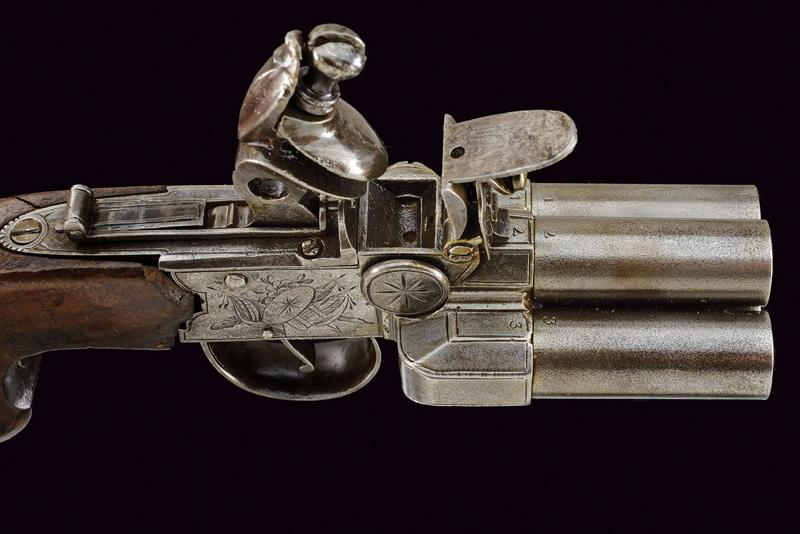 A very scarce flintlock pocket pistol by Booth - Image 2 of 6