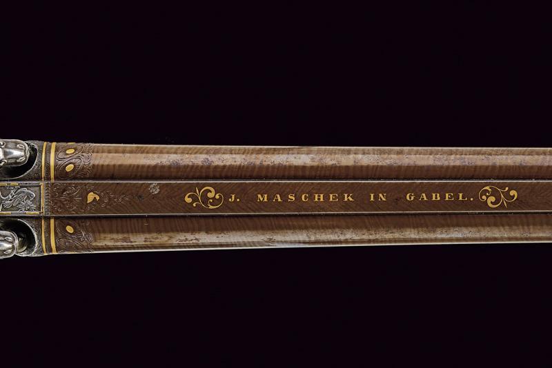A beautiful double-barrelled shotgun by Maschek - Image 3 of 9
