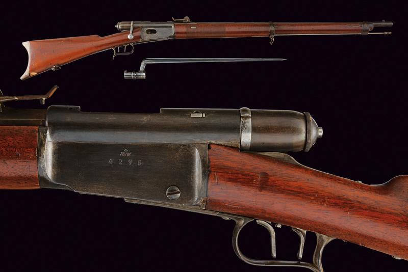 An 1869/71 model breechloading Vetterli Carbine with bayonet
