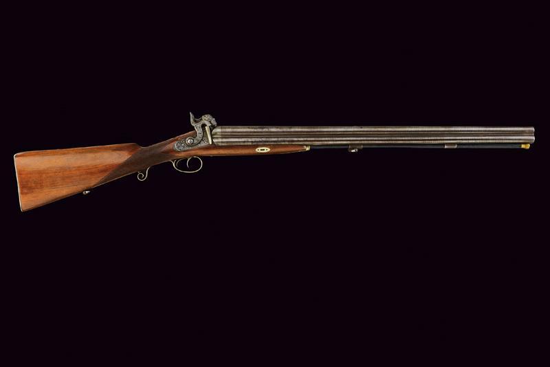 A rare cased four barrelled percussion gun by L. Menichetti - Image 7 of 19