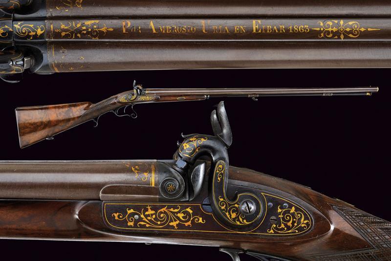 A beautiful and elegant double barrelled shotgun
