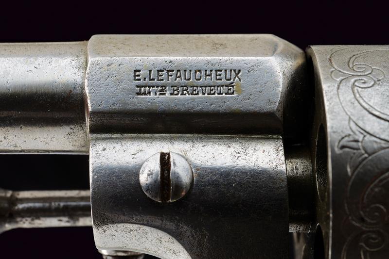 A fine Lefaucheux pin fire revolver - Image 3 of 7