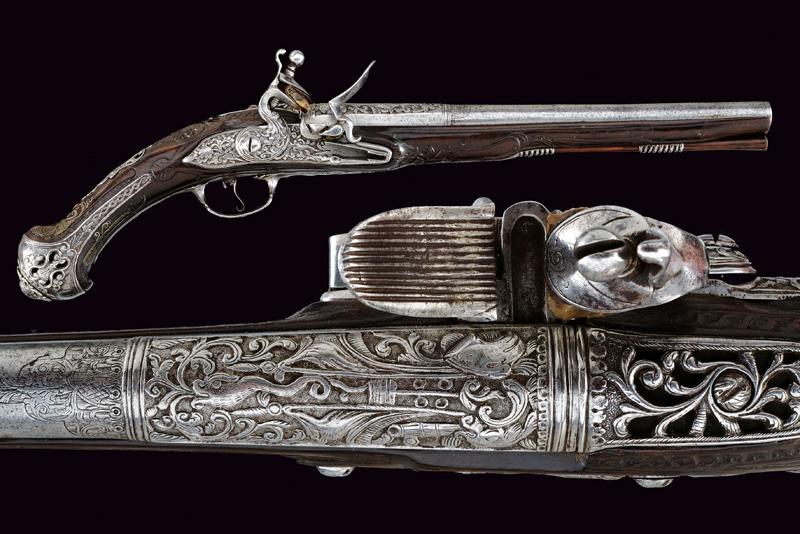 A beautiful flintlock pistol for the oriental market