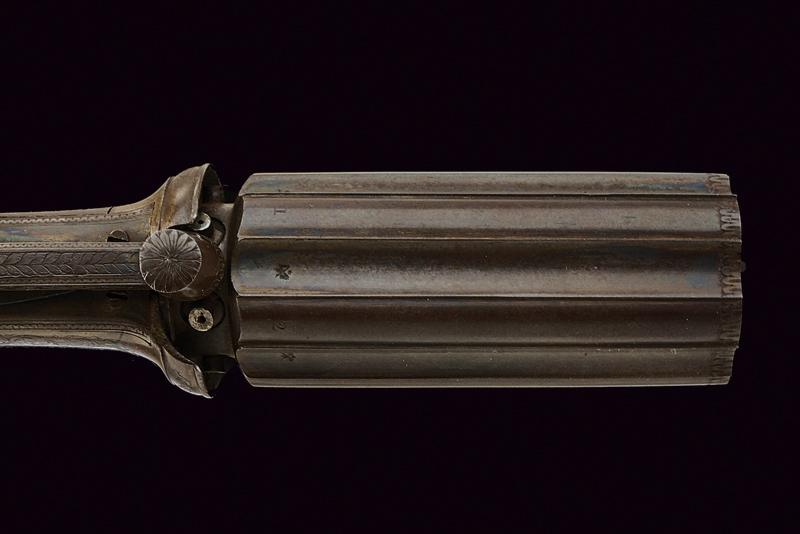 A percussion pepperbox revolver by Richards - Image 3 of 6