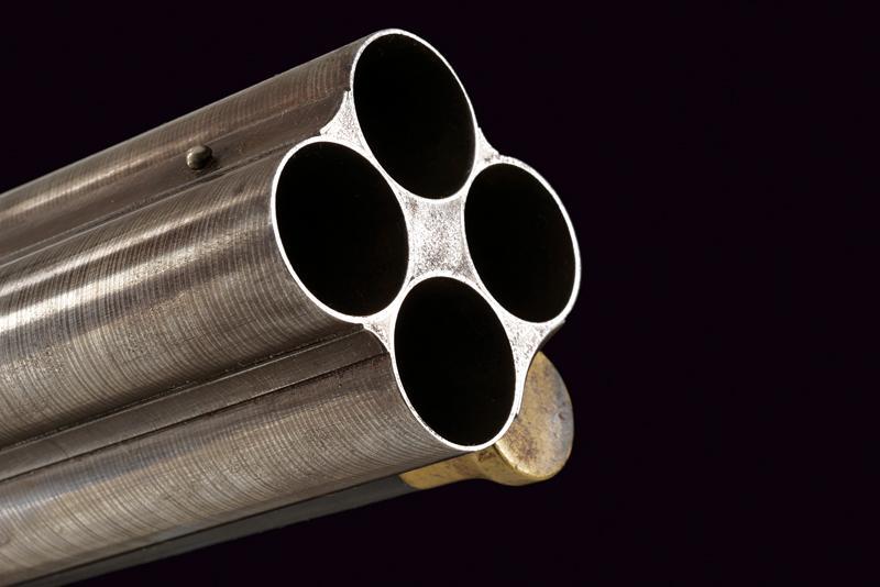 A rare cased four barrelled percussion gun by L. Menichetti - Image 13 of 19
