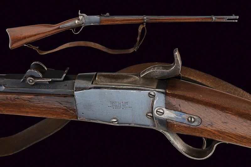 An 1867/77 model Peabody rifle
