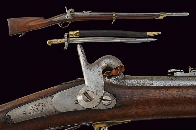 A grenadier's gun with bayonet