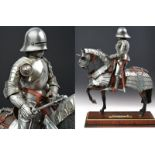 A beautiful English equestrian armour model
