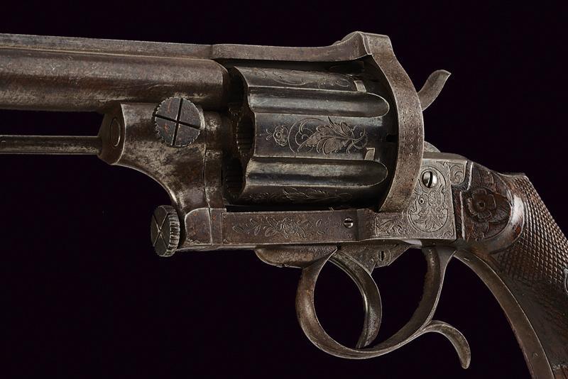 A fine pin fire revolver by Mazza - Image 2 of 5