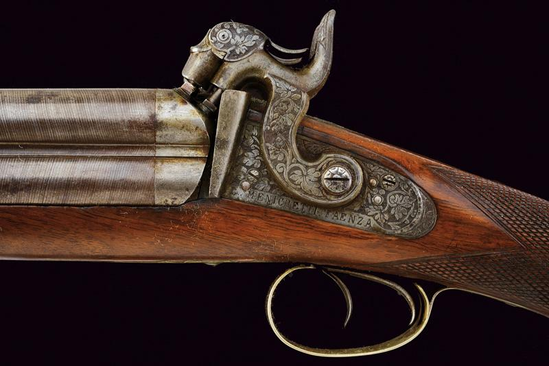 A rare cased four barrelled percussion gun by L. Menichetti - Image 15 of 19
