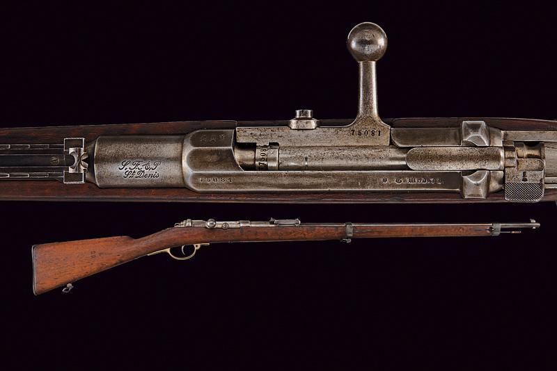 An 1871 model Mauser rifle