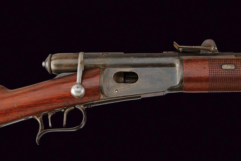 An 1869/71 model breechloading Vetterli Carbine with bayonet - Image 2 of 5