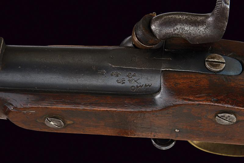 A Pattern 1853 Enfield percussion rifle with bayonet - Image 5 of 7