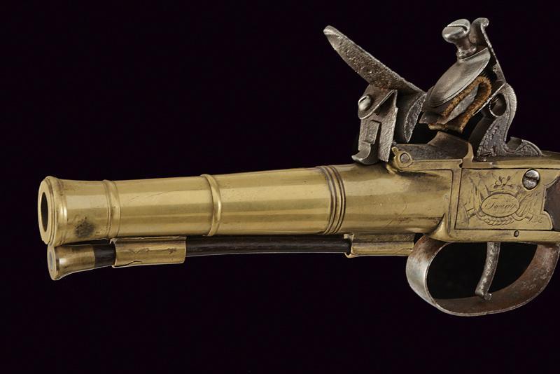 A naval flintlock boxlock pistol - Image 2 of 4