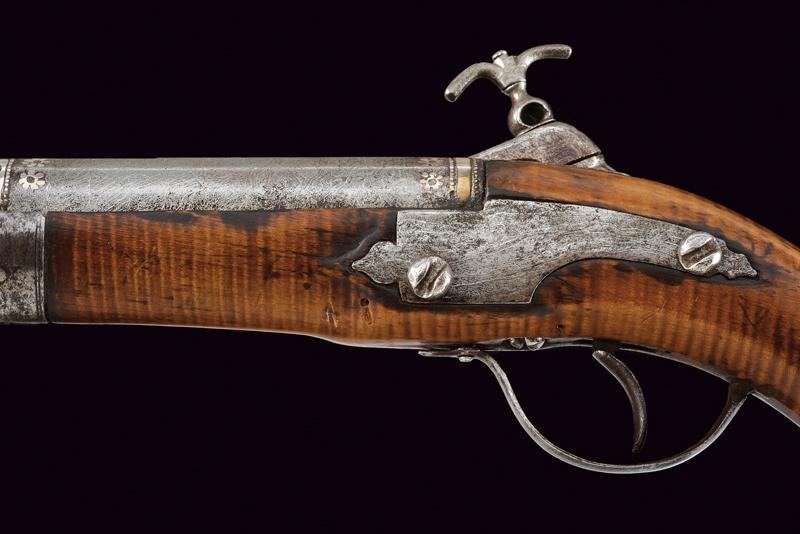 An interesting and rare miquelet flintlock pistol - Image 3 of 9
