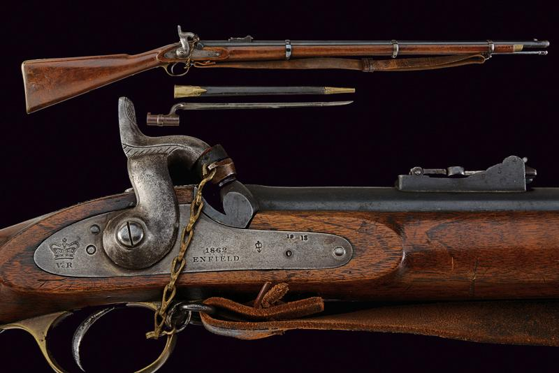 A Pattern 1853 Enfield percussion rifle with bayonet