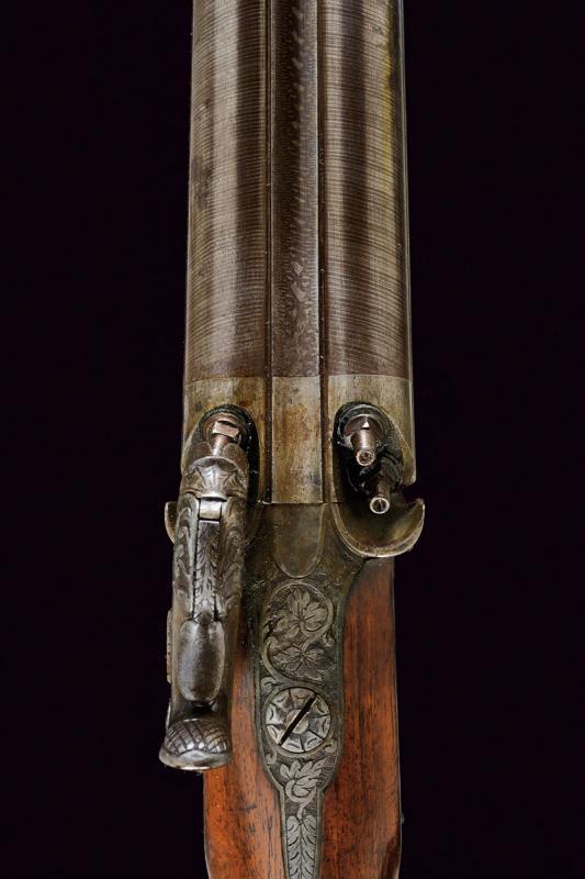 A rare cased four barrelled percussion gun by L. Menichetti - Image 8 of 19