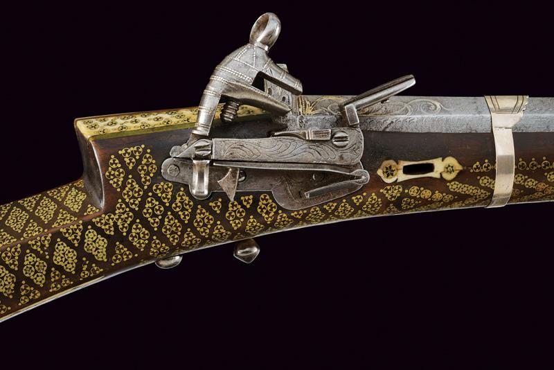 An elegant and rare flintlock tufenk - Image 3 of 13