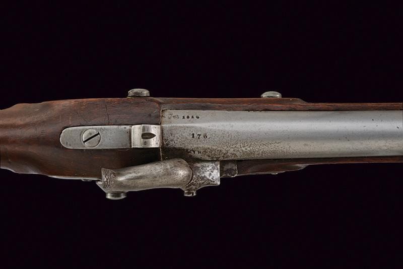 A percussion gun with bayonet of the Noble Guard - Image 3 of 5